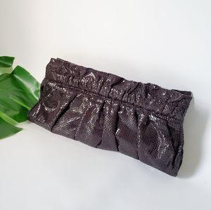 EXPRESS Soft Snakeskin Print Clutch Like New